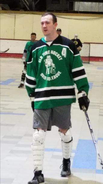 1ec1e3e696c The Over-30 is reviewing this photo that was sent to league officials to  investigate why Jason Carrien is wearing a Gang Green shirt on a Thursday  night